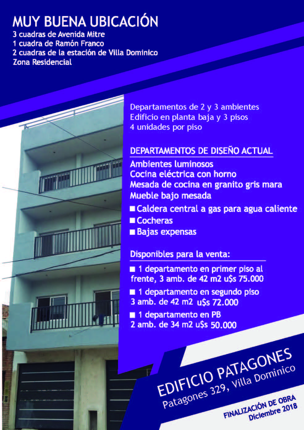 EDIFICIO PATAGONES, ÚLTIMOS DISPONIBLES!!